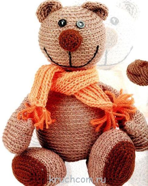 вязаный мишка крючком любимая игрушка ребенка вязание крючком