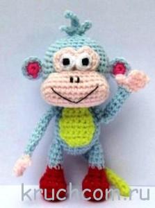 вязаная обезьянка крючком