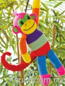 обезьянка крючком с описанием