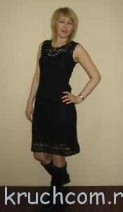 ажурное платье из мотивов