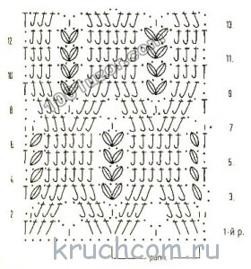 схема для вязания шорт крючком