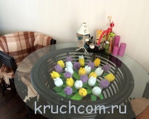 Тюльпаны крючком мастер класс видео