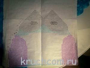 схема вязаной подушки