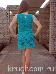 красивое вязаное платье крючком