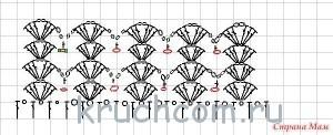 схема узора веерочки