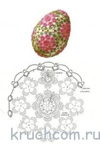 вязаные яйца напасху
