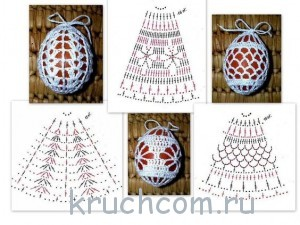 схемы вязания на пасху