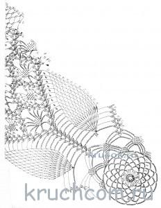 схема для вязания зонта