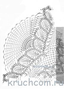 схема вязаного зонта крючком
