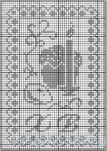 салфетка на пасху схема