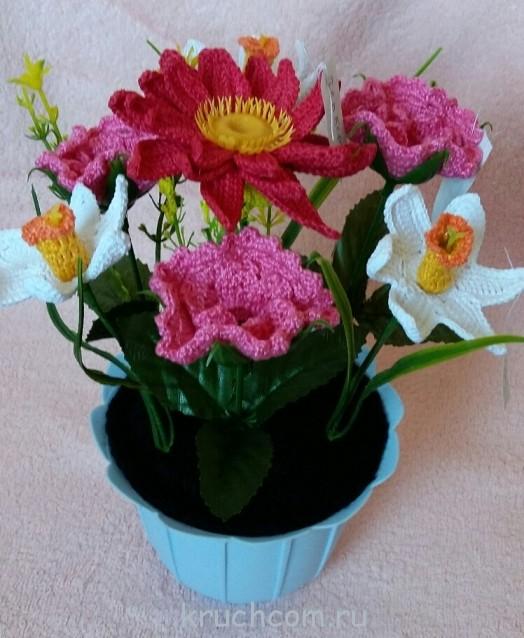 вязание цветов крючком подборки модели фото Kruchcomru