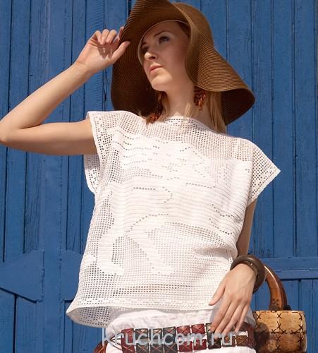 схемы вязания летних кофточек крючком с описаниями бесплатно