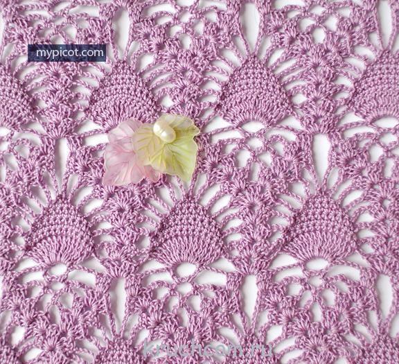 Схемы вязания легендарного узора «ананас»