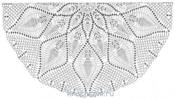 схемы вязания узора ананас крючком бесплатные схемы и описания